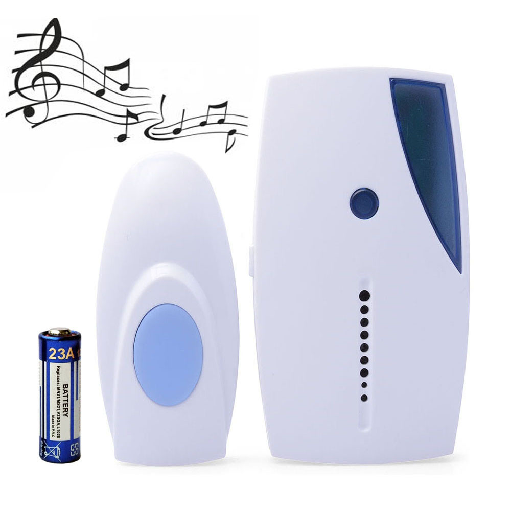 Mini Door_bell ! Portable LED 32 Tune Songs Music Sound Voice Wireless Chime Door Room Gate Doorbell + Remote Control+battery(China (Mainland))