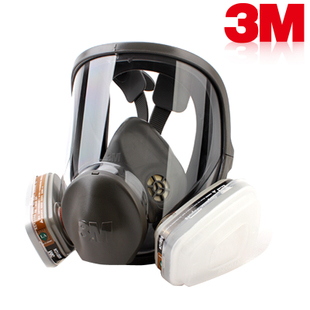 3M Respirator 6800 +6001 full facepiece reusable mask filter protection masks anti- organic vapor seven set free shipping R82403(China (Mainland))