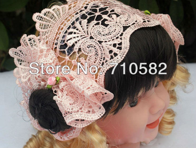 Newly designed wholesale 10pcs /lot Free Shipping Princess lace wig headbands Baby girls headwear for festival(China (Mainland))