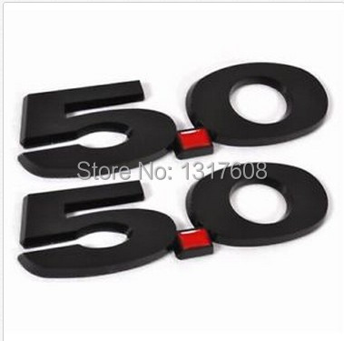 New Black 3D 5.0 Fender Emblem Badge ABS Fit 2011~2014 Ford Mustang GT(China (Mainland))