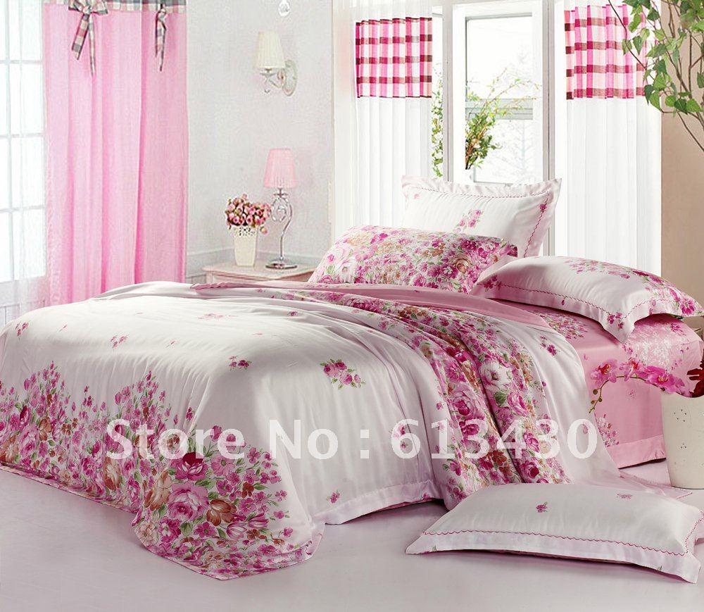 europe luxury tencel fabric bedding sets queen king size comforter sets flat sheet. Black Bedroom Furniture Sets. Home Design Ideas