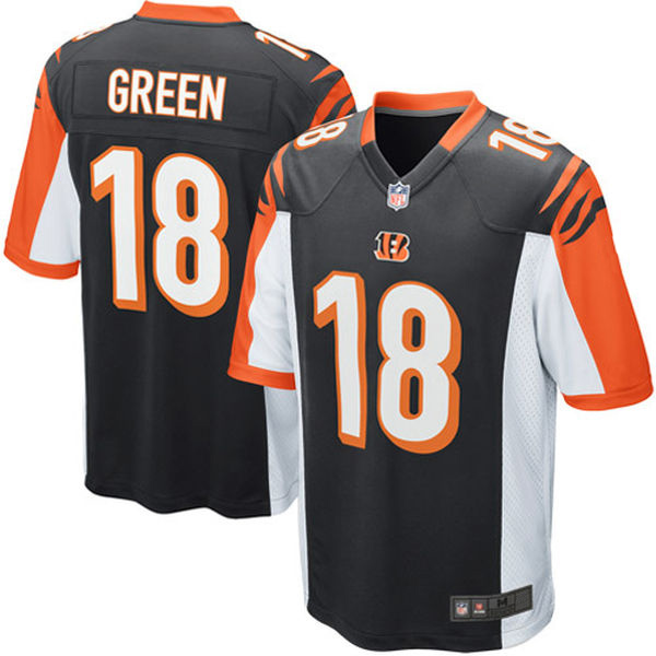 AJ Green Jerseys NFL Cincinnati Game Football Jersey - Black Orange White(China (Mainland))
