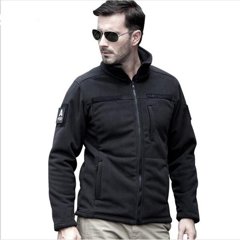 clothing tactical fleece jacket warm men's short plush fleece outdoor sports hiking jackets hunting(China (Mainland))