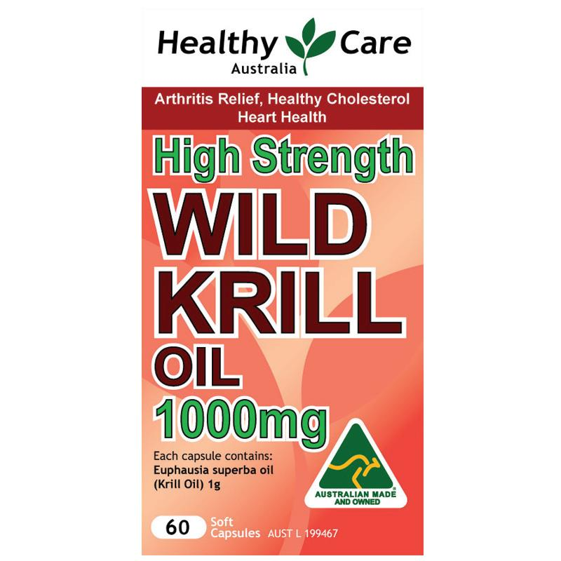 Healthy care Wild Krill Oil 1000mg 60 Caps help for Arthritis Relief, Healthy Cholesterol and Heart Health made in Australian<br><br>Aliexpress