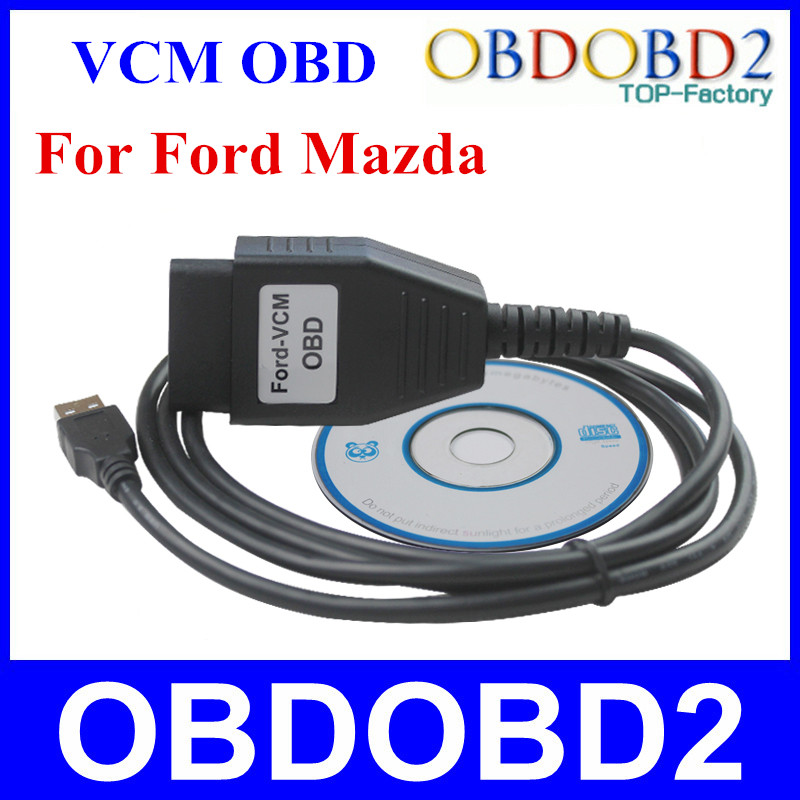 5pcs/Lot For Ford VCM OBD OBD2 Diagnostic Cable For FORD/Mazda For Ford-VCM OBD Cable Free Shipping(China (Mainland))
