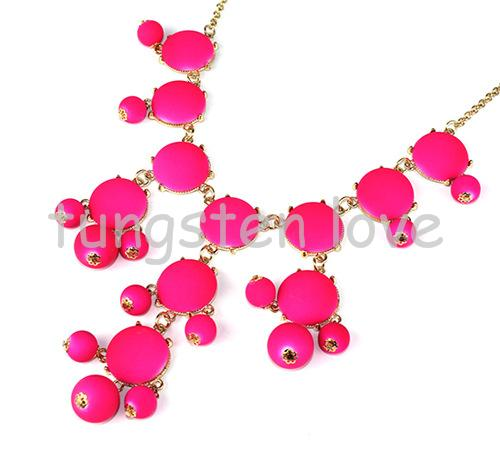 New Women's Bubble Bib Pendant Statement Fashion Necklace Bohemia's Choker Resin Collar Necklace 3 Colors Ladies Gifts(China (Mainland))