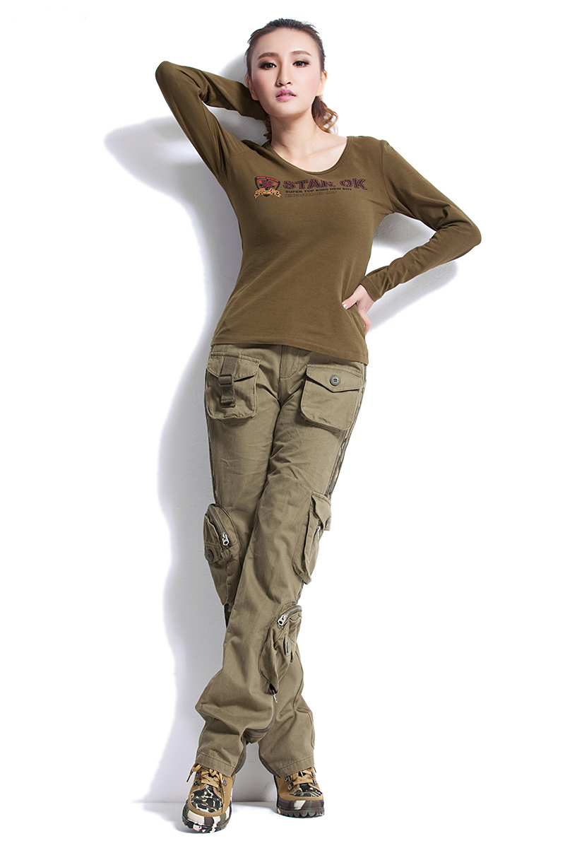 Amazing Pants Women Fashion Casual Loose Cargo Pants Women Militaryin Pants
