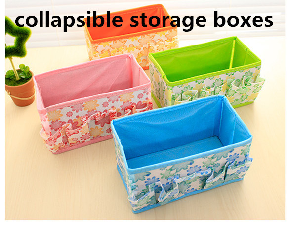 Guaranteed 100% 015 Sale Real 1 PC Collapsible Package Multifunctional Sundries Storage Boxes Bins Colorful Europe Style Box Cos(China (Mainland))
