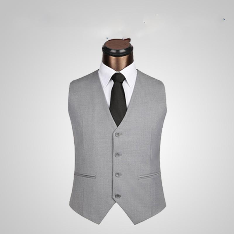 Formal groom wedding Vest Mens Black Dress Suit Vest Plus Size M-6XL 2017 Fashion Wedding Men Slim Fit Suit Vest And Waistcoat