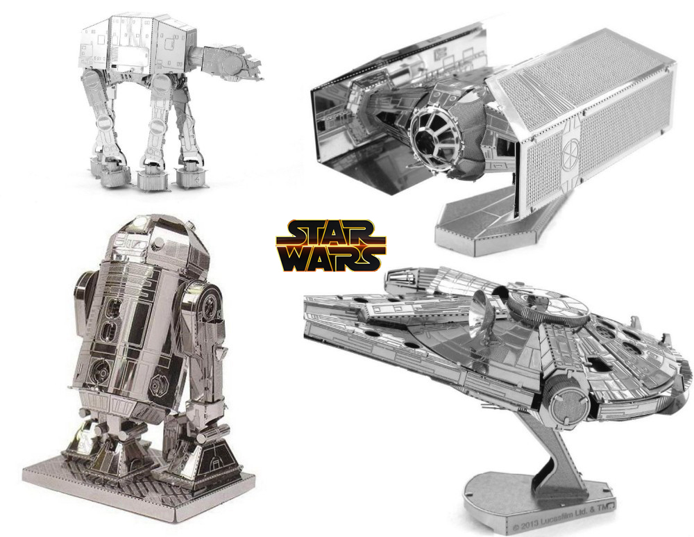 Star Wars Model Building Kits 3D Scale Models DIY Metallic Nano Puzzle Toys 2015 Spain Brazil Israel USA  -  The world of small commodities store