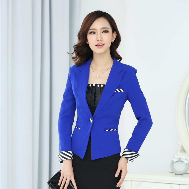 Autumn winter female formal blazer women blaser feminino for Office uniform design 2015