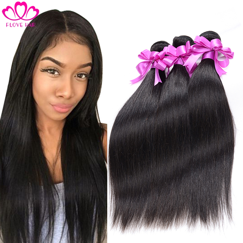 8A Brazilian virgin hair straight 3 Bundles Brazilian Hair Weave Bundles Cheap Human Hair Brazilian Straight Hair Weave Bundles