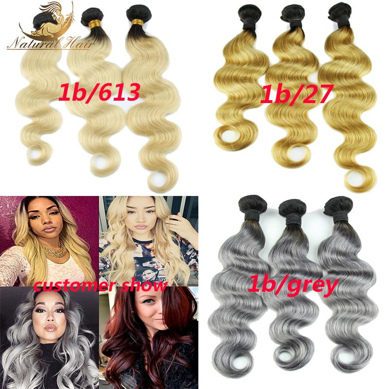 Rosa Hair Company 3pcs Ombre Brazilian Virgin Hair Body Wave Ombre Human Hair 3 Bundles Blonde Color Ombre Hair Extensions<br><br>Aliexpress
