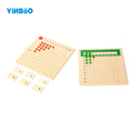 Montessori Educational Wooden Toy Multiplication and Division Bead Board for Early Childhood Preschool Training Family Version