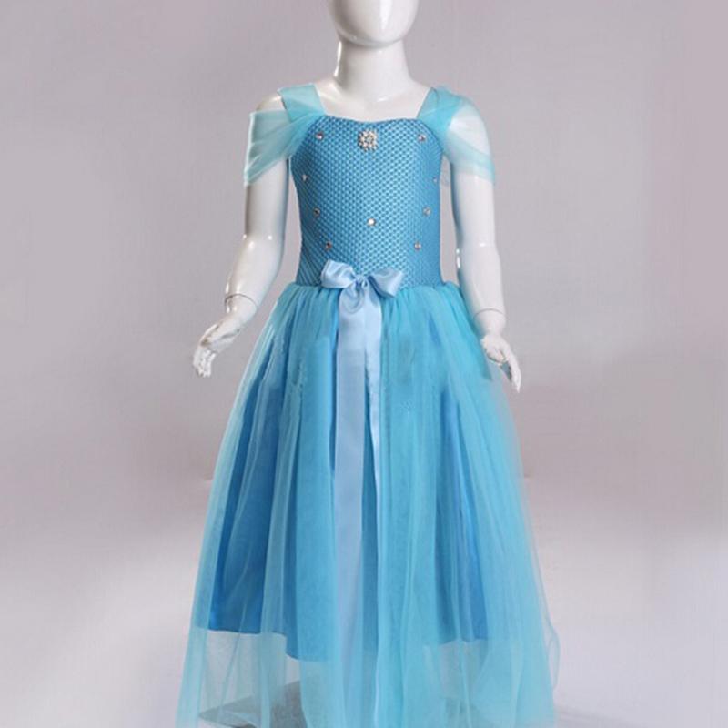 2015 autumn new Cinderella dress princess dress with long sleeves F1419<br><br>Aliexpress