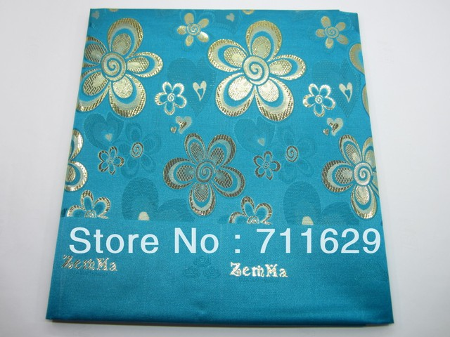 turquoise blue color with gold regular super jubilee headtie for wedding and party 7pcs in stock this time take action asap