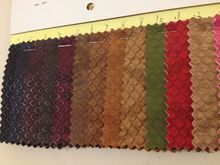 SAMPLE CARDS of  Vintage Snakeskin patterned Faux Synthetic leather fabric ,16colors,Free Shipping(China (Mainland))