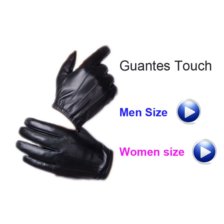 Quality Faux Leather Touch Gloves for iPhones Women Men Classic PU Leather Gloves  Winter Motorcycle Driving Luva Gym Gloves(China (Mainland))