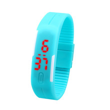 2015 Fashion Sport LED Women Watches Candy Color Silicone Rubber Touch Screen Digital Watches Waterproof Bracelet
