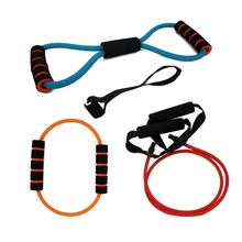 Free shipping 4pcs/Sets Resistance Bands 2015 Elastic Exercise Sets For Fitness,Shape the Perfect Figure,Yoga Workout Pilates