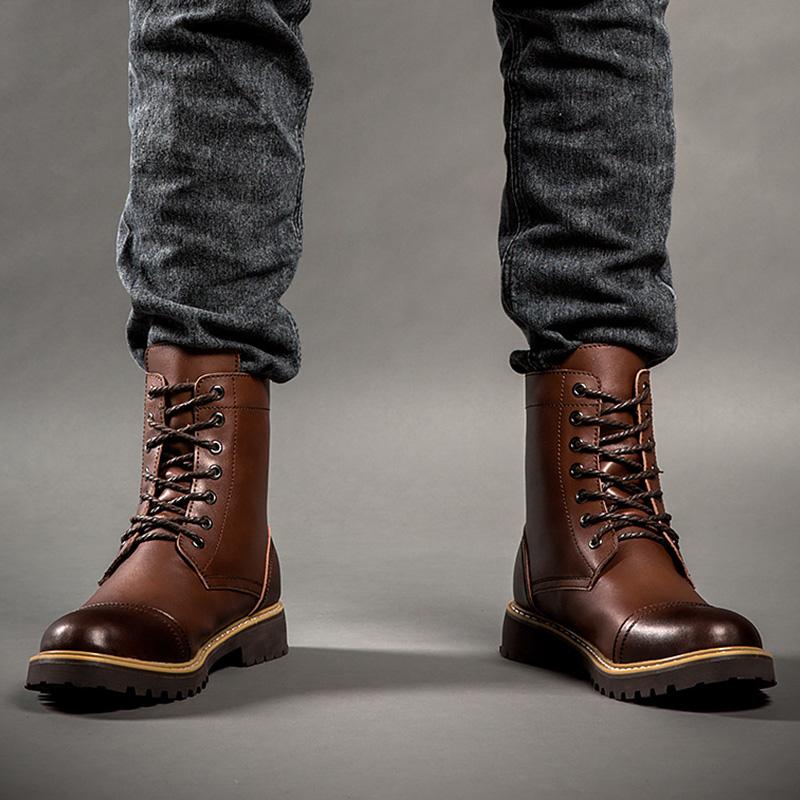 Zapatos de invierno estilo militar para hombre foa5OnElqX
