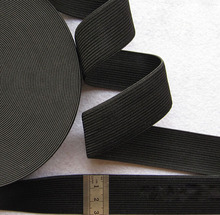 Wholesale 40Yards/roll 30MM White/Black Colored Elastic Ribbon Polyester Knit Baired Sewing Elastic Webbing Band 7-025(China (Mainland))