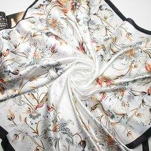 90cm*90cm 2016 Fashion Brand Female Pink Scarf,Women Polyester Silk Scarf Flowers Design Satin Big Square Scarf/Shawl For Ladies(China (Mainland))