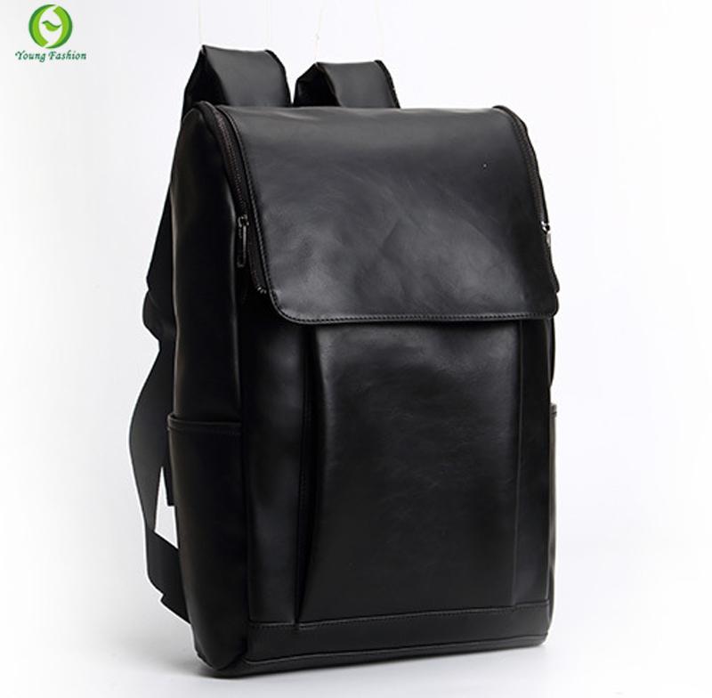 Fashion Tender 2015 Waterproof  leather backpack  women Restore ancient ways travel backpack bag black men  school backpack
