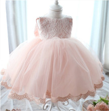 High Quality Baby Girl Dress Baptism Dress for Girl Infant 1 Year Birthday Dress for Baby Girl Chirstening Dress for Infant(China (Mainland))