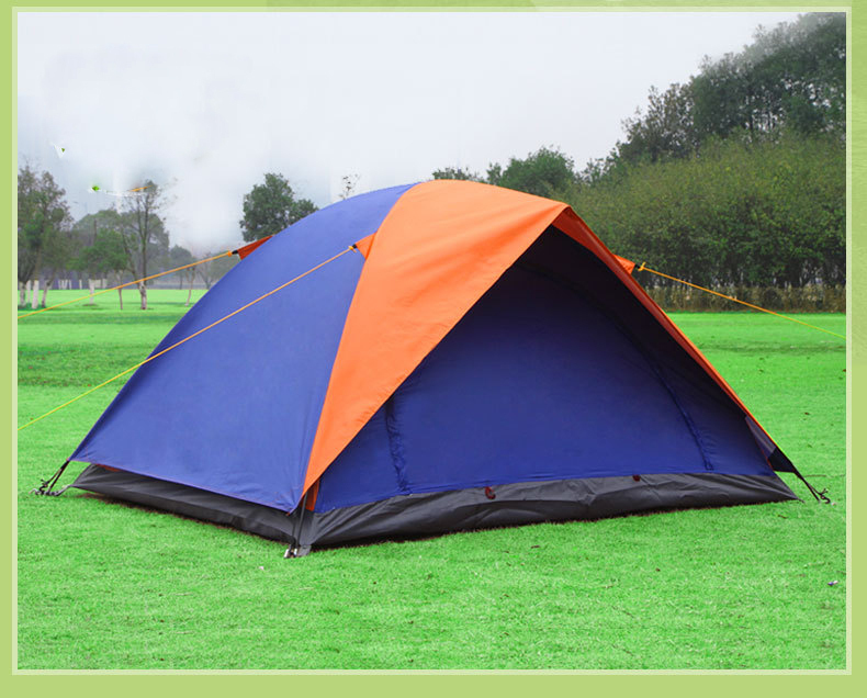1.9KG Ultralight 2 Person Camping Tent Tourist Pole Fiberglass Outdoor Hiking Camping Folding Tent(China (Mainland))
