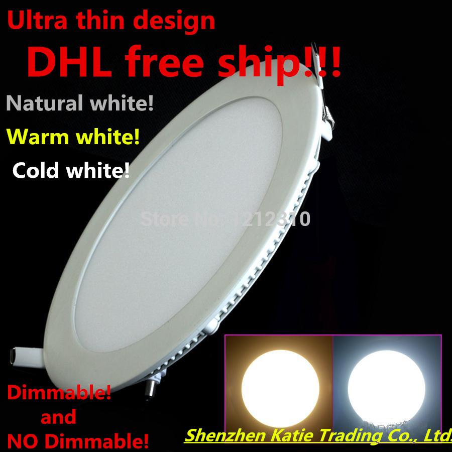20pcs Ultra Bright 3W 6W 9W 12W 15W 25W Led Ceiling Recessed Downlight Round Panel light 1800Lumen Led Panel Bulb Lamp Light(China (Mainland))