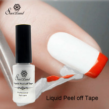 Saviland 1pcs Peel Off Liquid Tape From Nail Polish Protection Finger Skin Cream White Latex Protected Glue Easy Clean(China (Mainland))