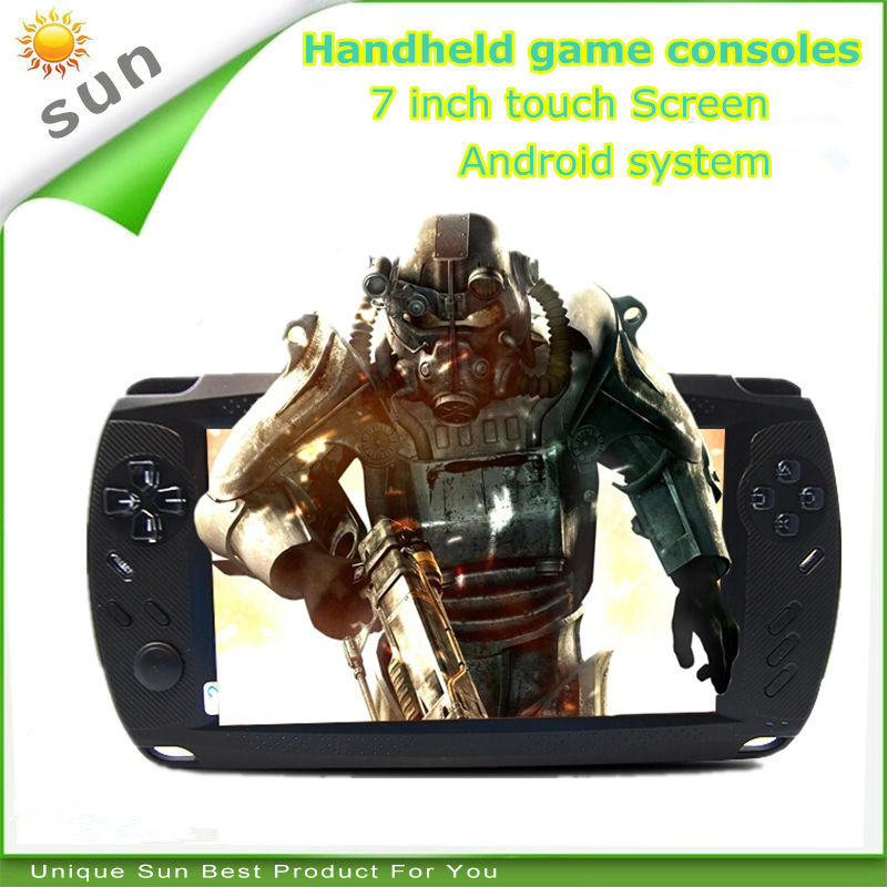 Newest 7 inch touch screen android game console tablet 8G storage wifi portable game player handheld game console free shipping(China (Mainland))