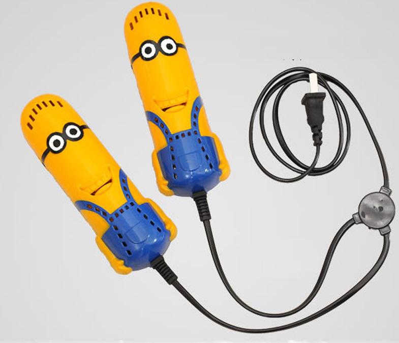 送料無料新しい電気スポーツ黄色男タイプ靴乾燥機ヒーター除湿消毒脱臭靴ウォーマー