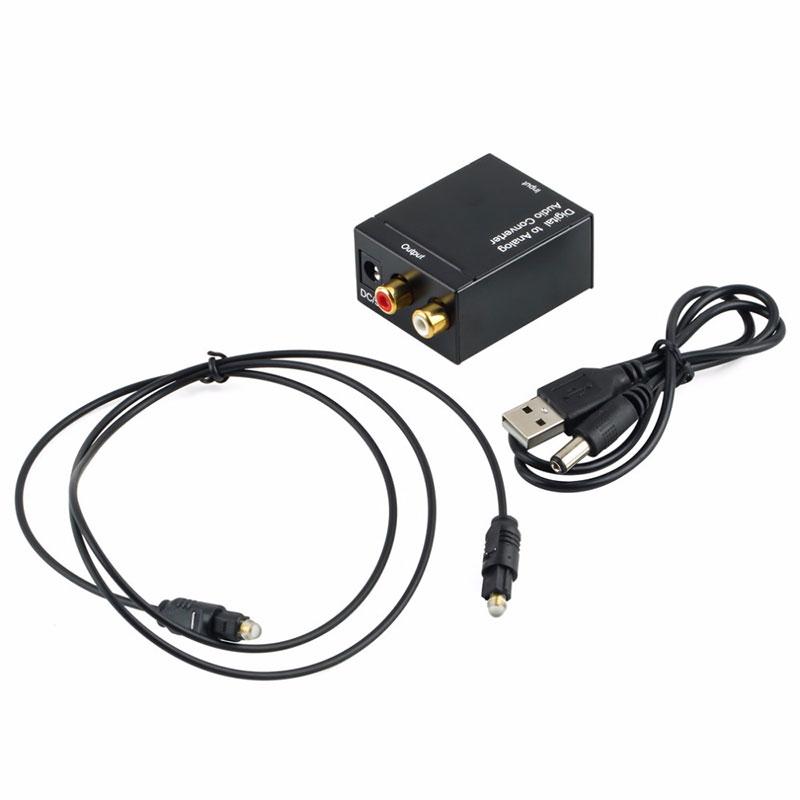DAC Digital Optical Fiber To Analog Audio Converter Adapter Optic Coaxial Audio