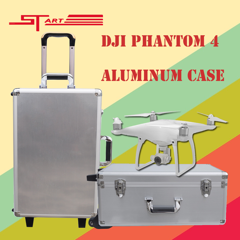 2016 DJI Phantom 4 Case Drone with Gimbal Protector Aluminum Box Easy to Carry for DJI Phantom 4 FPV Parts Gift Free Shipping(China (Mainland))