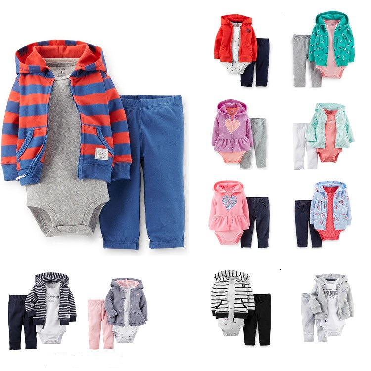 Carter 2015 new fall coat + short-sleeved piece Romper + pants three-piece variety of factory outlets<br><br>Aliexpress