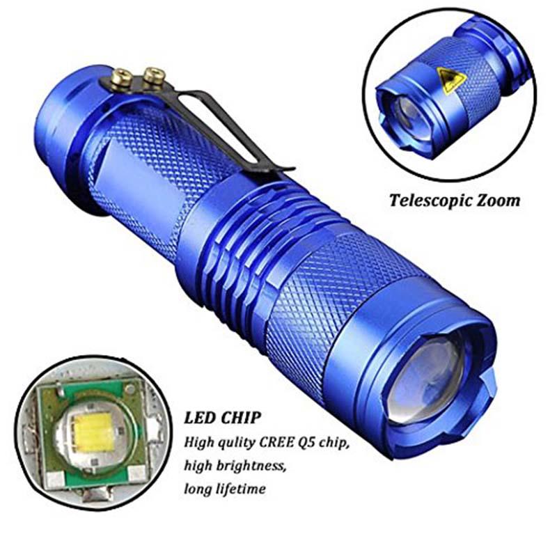 Ultra Lanternas Led CREE 7W XM-L Q5 Mini Flashlight Linternas 2000 Lumens Zoom In & Out Lights Searchlight Flash Lights(China (Mainland))