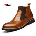 British Style Men s Chelsea Boots Fashion Black Brown Red Ankle Boots For Men Bullock Brogues