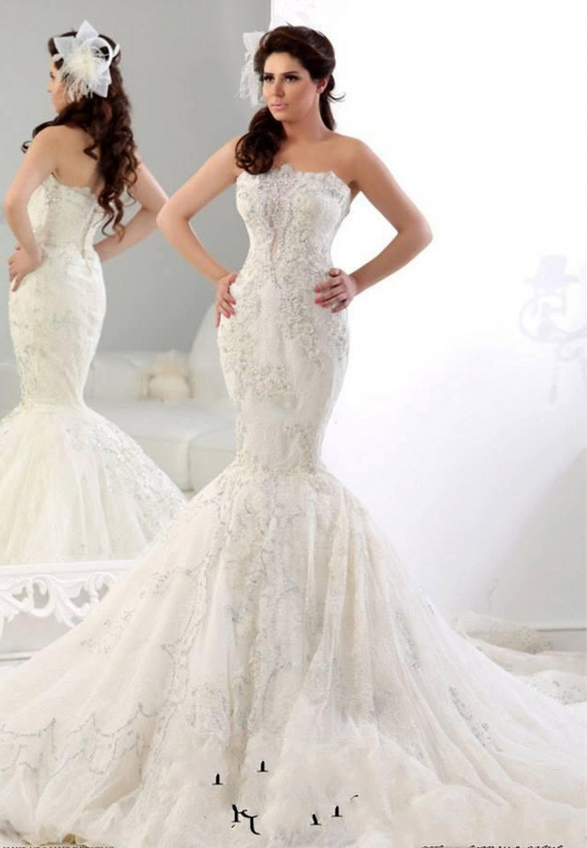 2016 arabic wedding gowns dresses vintage backless beaded for Wedding dresses in dubai prices