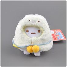 9cm kawaii japonês sumikko gurashi san-x canto bio pelúcia chaveiro pingentes brinquedo capa de pelúcia animais adorável saco de presente de boneca de natal(China)