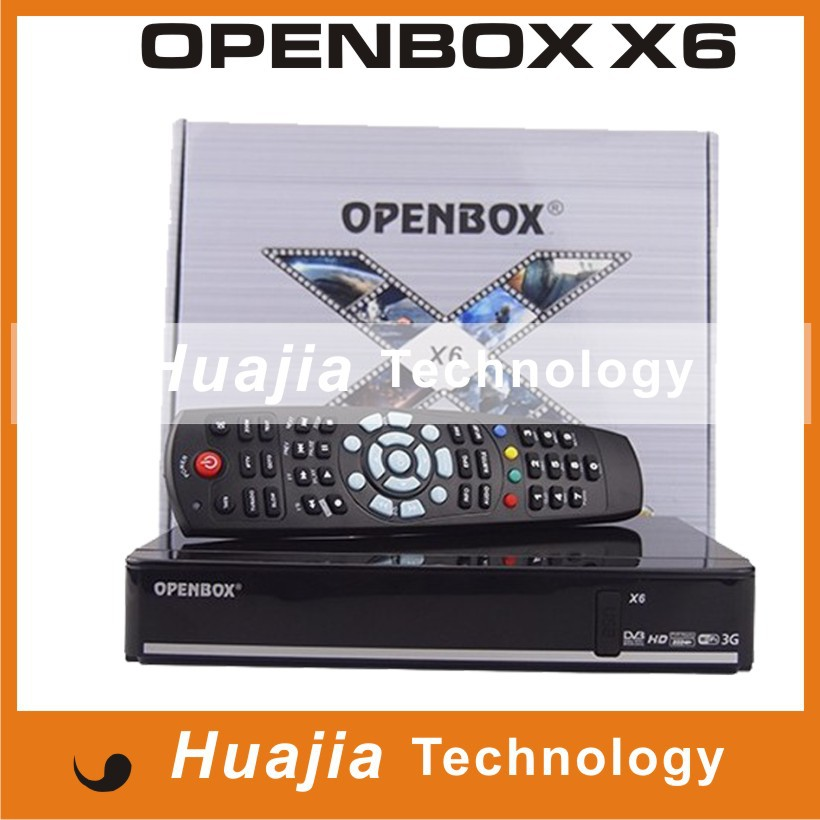 [Genuine] Openbox X6 Satellite Receiver Support cccamd newcamd Redtube Youporn 2x USB Google Maps Weather Forecast Free Shipping(China (Mainland))