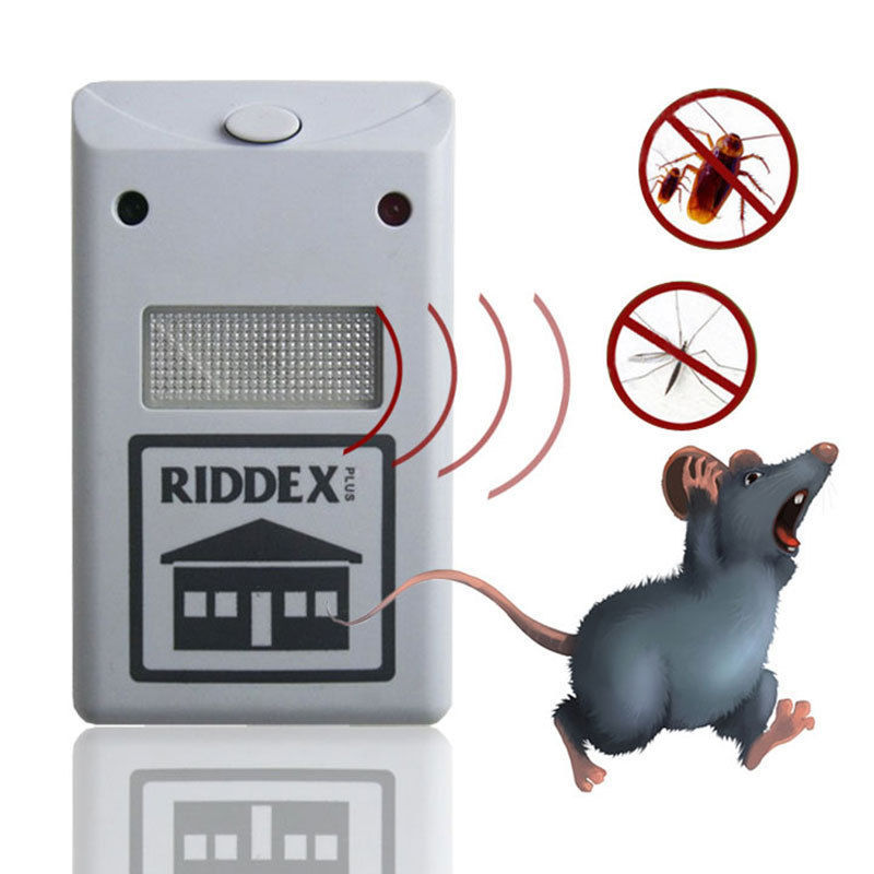 Hot Selling Ultrasonic High Quality Riddex Plus Electronic Pest Rodent White Repeller 220V(China (Mainland))