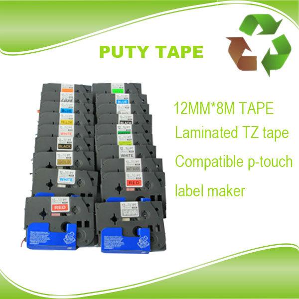 Free sample 5 pcs TZ tape offered TZ-231 TZ-431,TZ-531,TZ131,TZ 631,12mm TZ label tape for p touch pt-d200<br><br>Aliexpress
