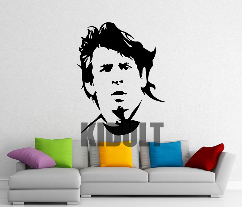 Soccer Star Lionel Messi Wall Decal Wall Stickers Vinyl Stickers Posters Indoor Football Stadium Home Fans Backdrop Stickers(China (Mainland))