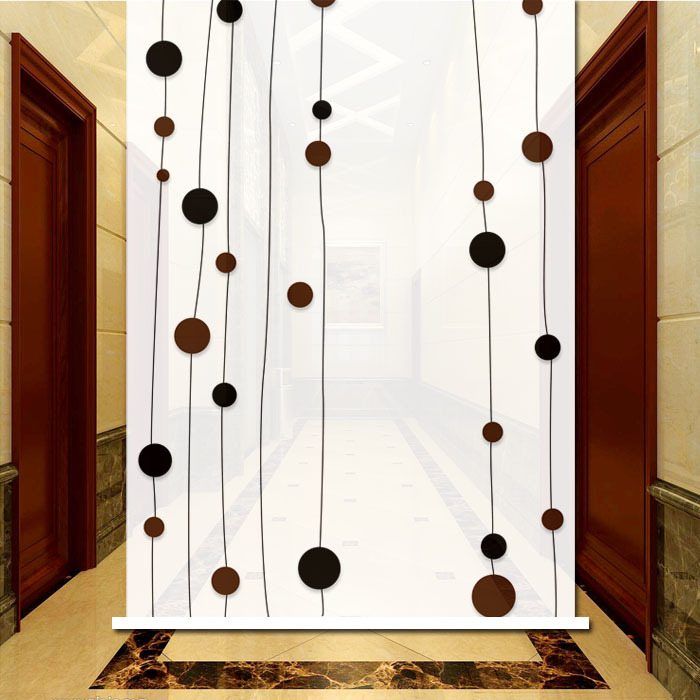 Modern Abstract Dots and Stripes Roller Shade Multi Size Available Custom blinds with dots(China (Mainland))