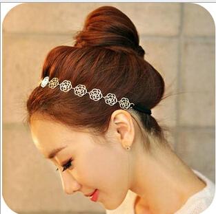 2014 New Fashion Flower Hair Hoop Band Elegant Headband Hairpin Top hair Accessories Hair Ornaments Free Ship FD173(China (Mainland))