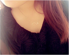 Hot sale Fashion simple popular 'Big Dipper'Necklace Lovely Dipper crystal necklace jewelry for women