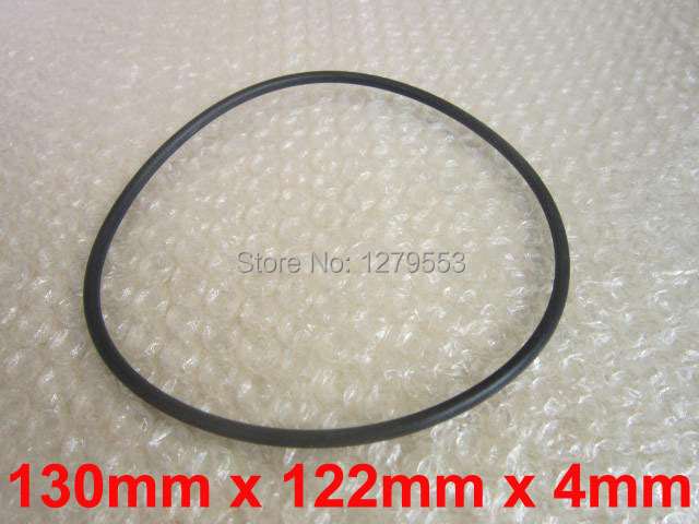 130mm x 4mm Industrial Flexible Rubber Sealing Oil Filter O Rings Gaskets Black(China (Mainland))
