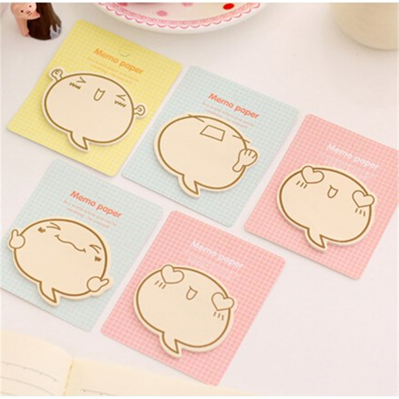60 pcs/Lot Fighting face memo paper Cute stickers note Adhesive notepad pad  Post it sticky stationery Office School supplies<br><br>Aliexpress